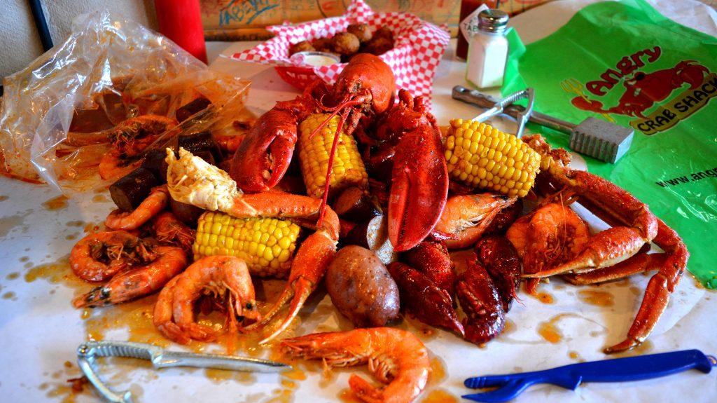 Angry Crab Shack seafood