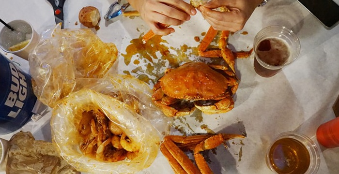 Angry Crab Shack Meal