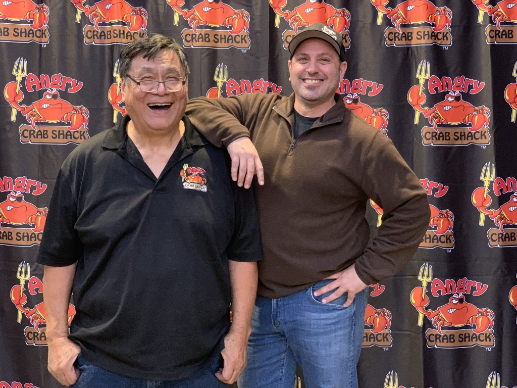 Angry Crab Shack Founder, Ron Lou and President, Andy Diamond