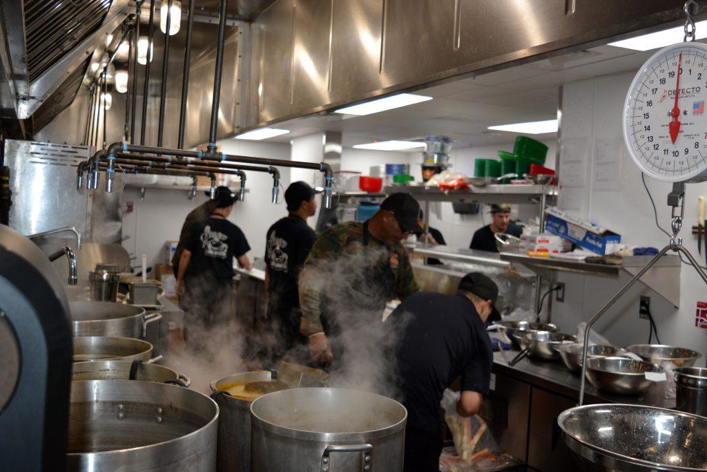 Angry Crab Shack kitchen