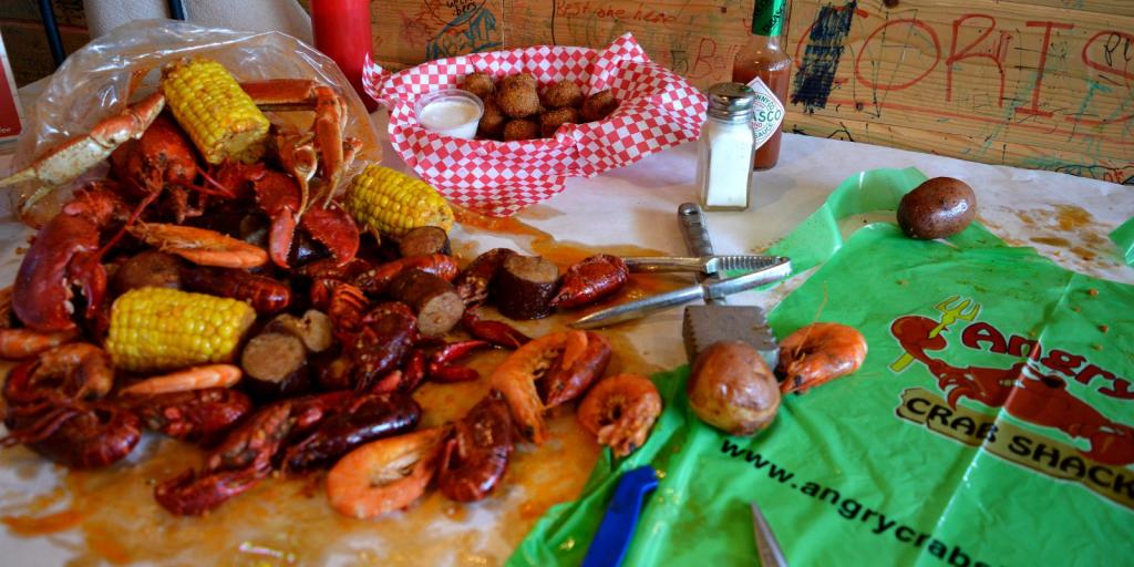 Seafood at Angry Crab Shack