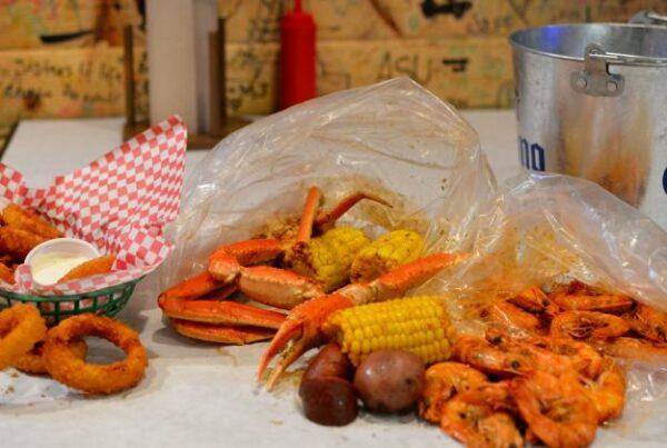 Angry crab shack food